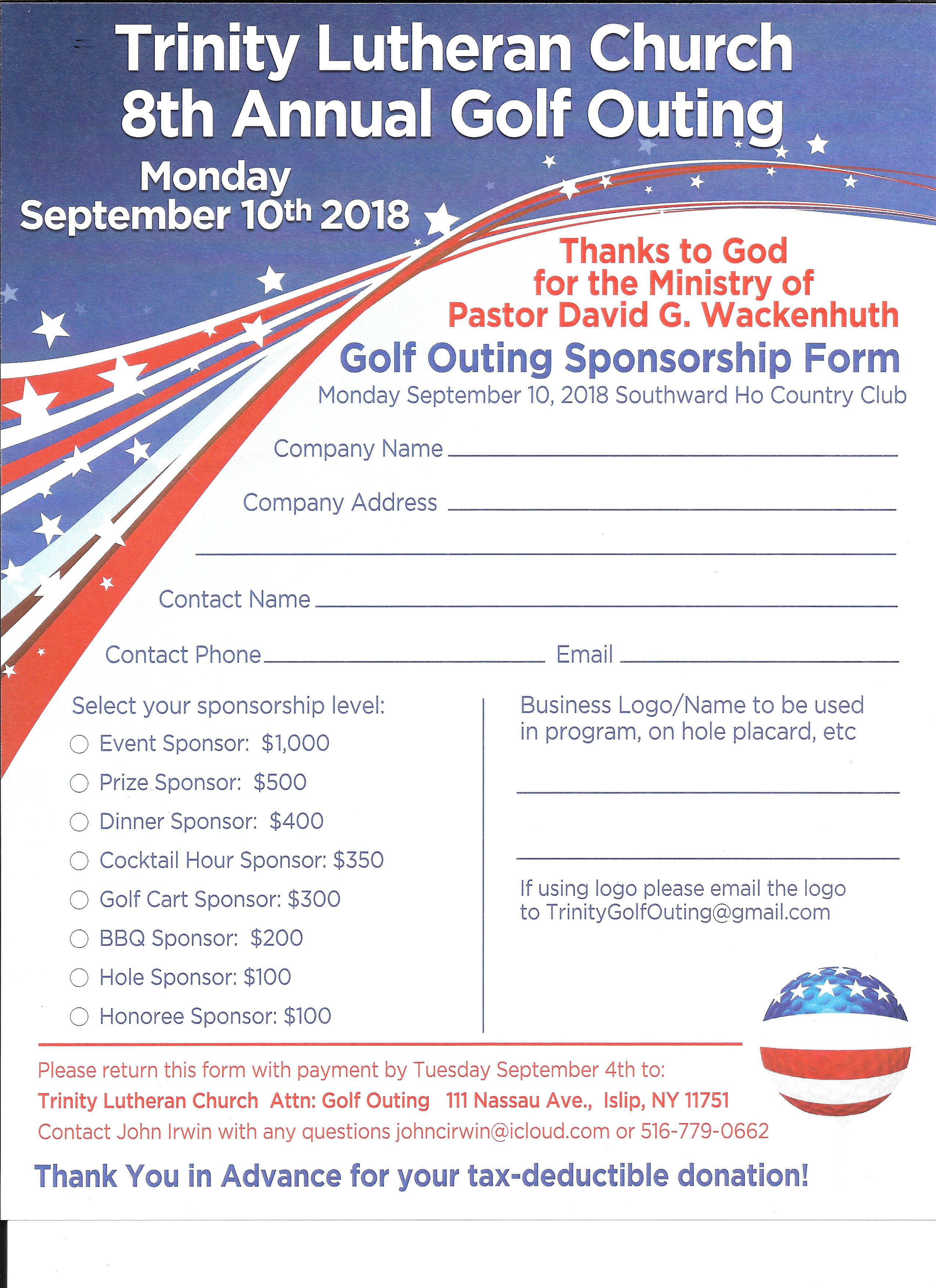 Golf outing tlc 2018 sponsor sheet thecheapjerseys Image collections